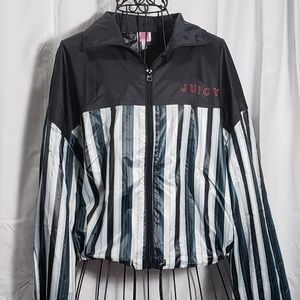 Juicy Couture Shiny Zip-Up Track Jacket